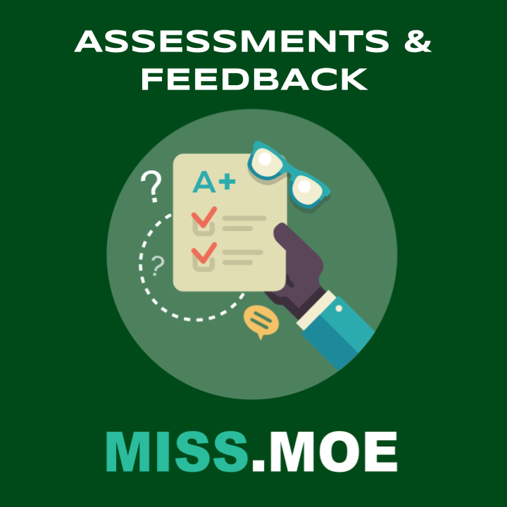 Sample of the digital badge for the Assessments and Feedback category