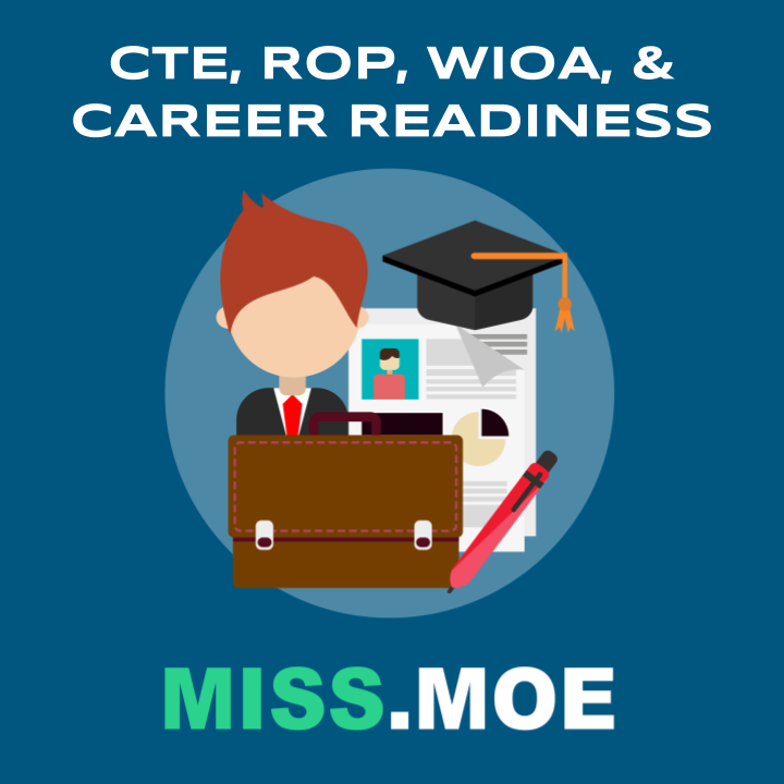 Sample of the digital badge for the CTE, ROP, WIOA, and Career Readiness category