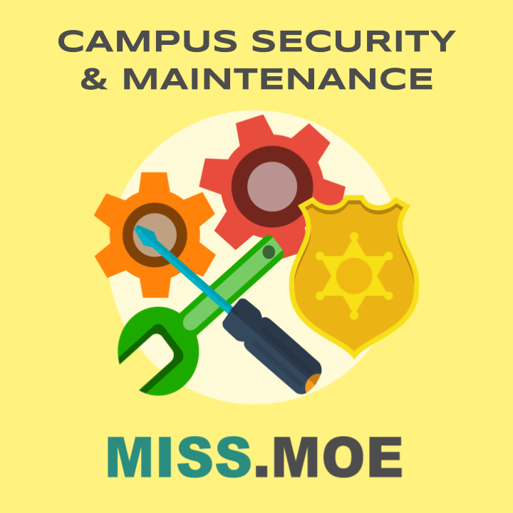 Sample of the digital badge for the Campus Security & Maintenance category