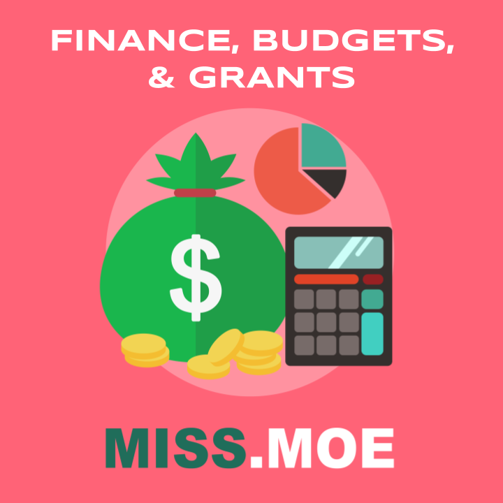 Sample of the digital badge for the Finance, Budgets, and Grants category.