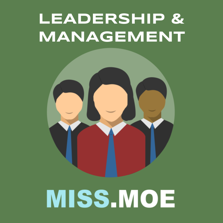 Sample of the digital badge for the Leadership and Management category