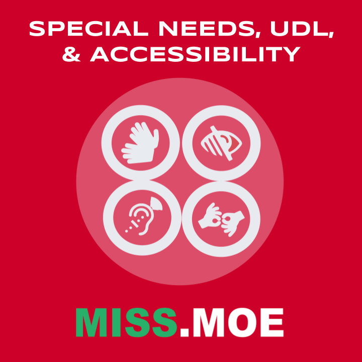 Sample of the digital badge for the Special Needs, UDL, and Accessibility category