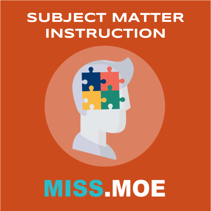 Sample of the digital badge for the Subject Matter Instruction category.